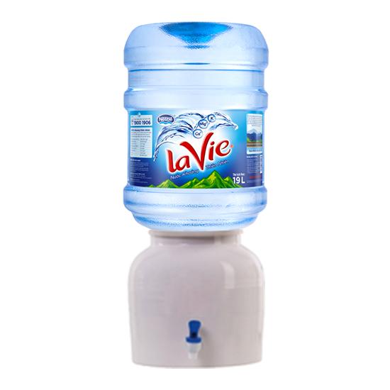 Bình sứ đựng nước khoáng LaVie